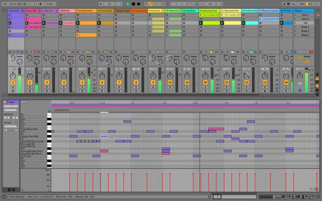 zelf muziek maken met muziek programma Ableton live 10